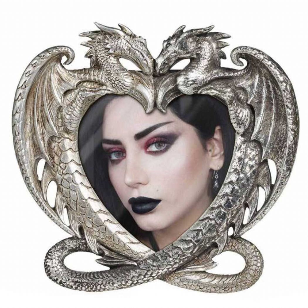ALCHEMY GOTHIC  Mystical Dragon's Heart Photo Frame